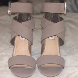 Steve Madden Tan Strappy Heels